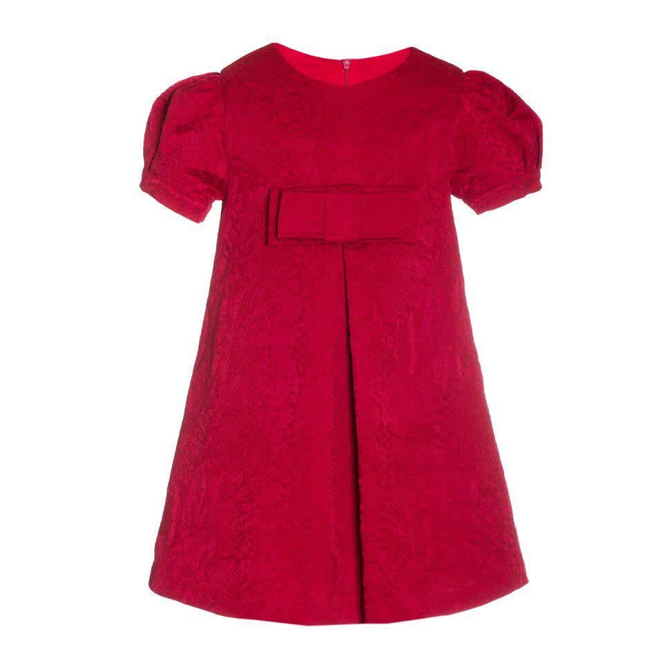 Patachou Patachou Girls Red Jacquard Dress