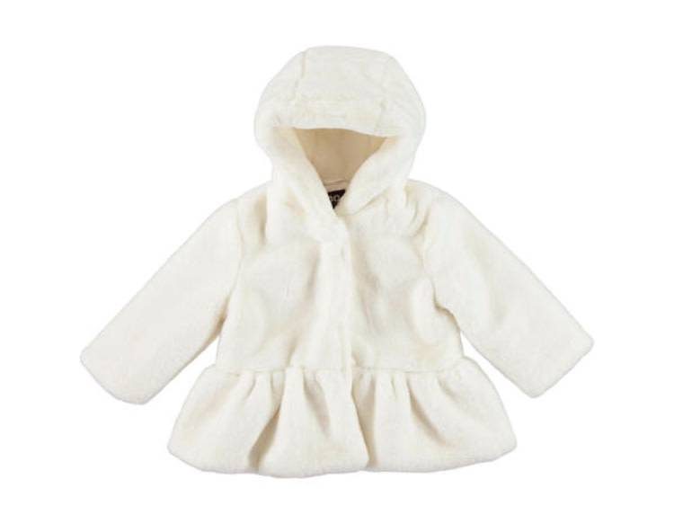 Ido iDO Girls Ivory Fur Jacket