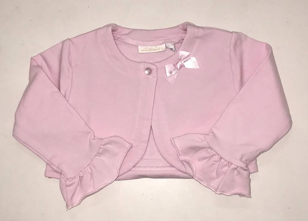 Minibanda Minibanda Girls Pink Bolero with Frill Sleeve