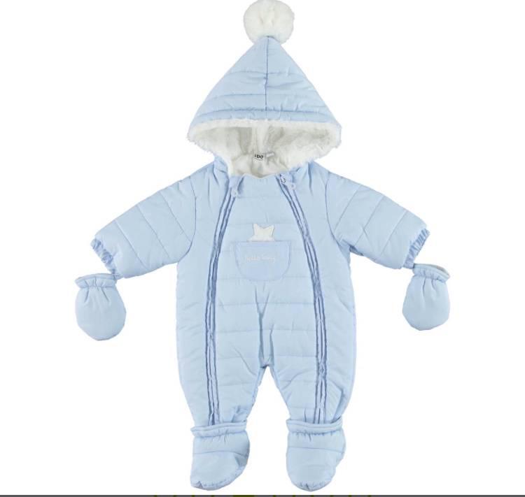 Ido iDO Boys Blue Snowsuit with Pom Pom