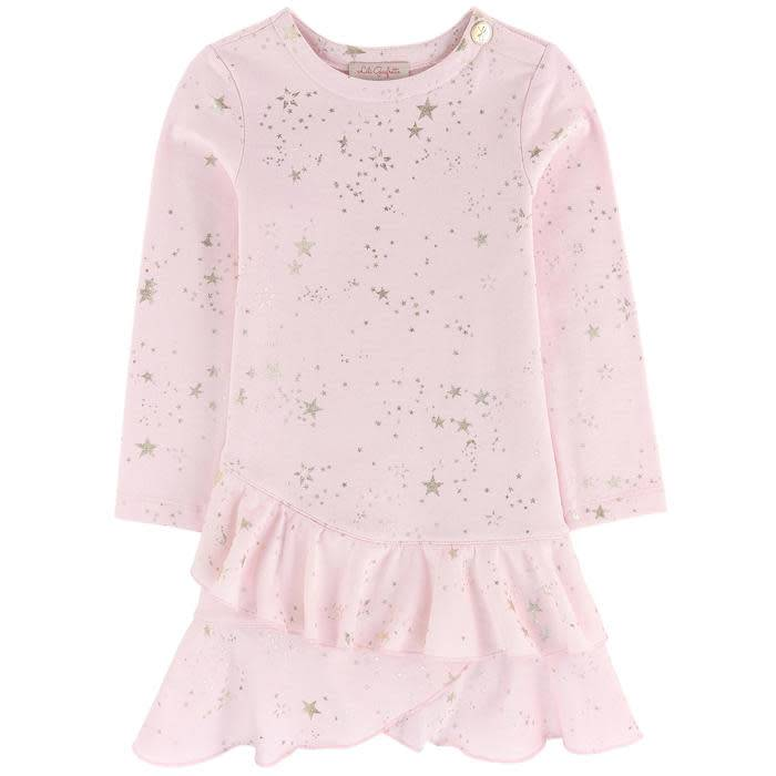 Lili Gaufrette Lili Gaufrette Star Detail Frill Jersey Dress