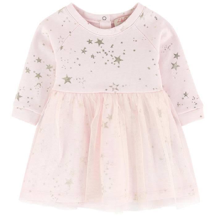 Lili Gaufrette Lili Gaufrette Star Detail Tulle Dress