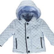 Piccola Speranza Piccola Speranza Quilt Jacket with Navy Trim
