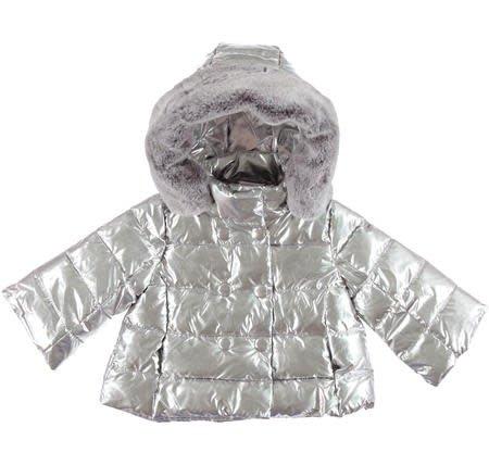 Ido iDO Girls Silver Padded Jacket