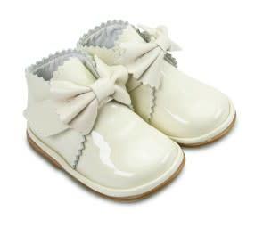 Borboleta Borboleta Sharon Ivory Patent Boot with Bow