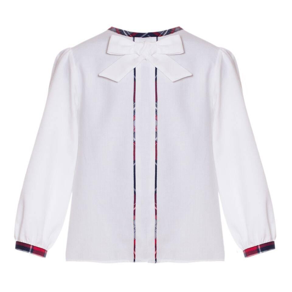 d2216d6070 Patachou Girls Tartan Pleated Skirt Set with Bow Blouse - Bubbles ...