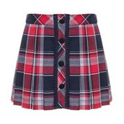 Patachou Patachou Girls Tartan Pleated Skirt Set with Bow Blouse