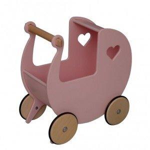 Pink Moover Wooden Dolls Pram