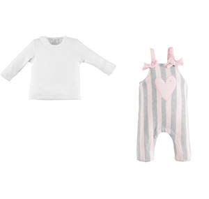 Minibanda Minibanda Girls 2 Piece Dungaree Set