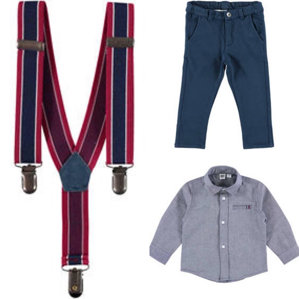 Ido iDo Boys 3 Piece, Shirt, Trousers & Braces