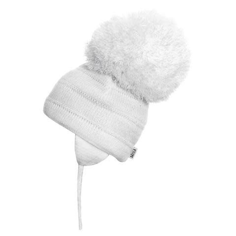 Satila Satila Tuva White Large Pom Pom Hat
