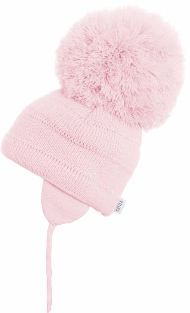 Satila Satila Tuva Pink Large Pom Pom Hat