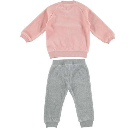 Ido iDo Girls Velour Heart Tracksuit
