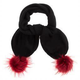 Ido iDo Girls Pom Pom Hat & Scarf