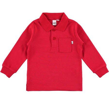 Ido iDO Red Long Sleeved Polo Shirt