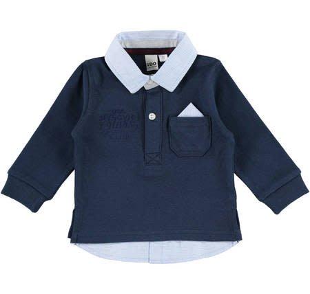 Ido iDO Navy Patterned Collar Shirt