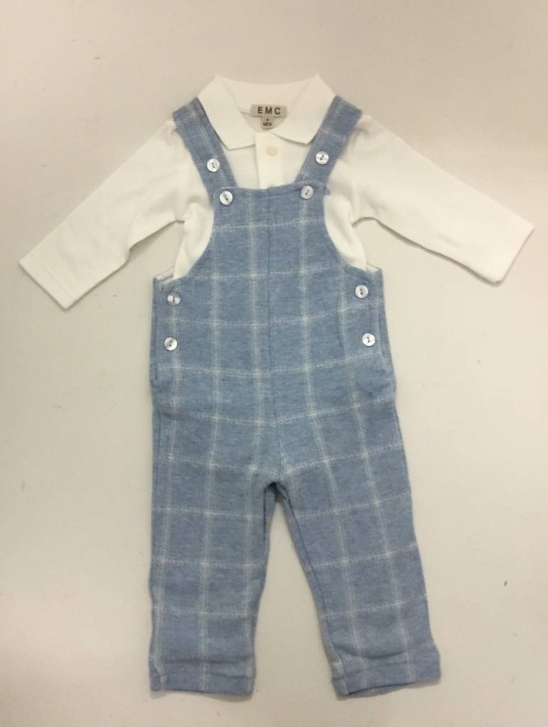 EMC EMC Checked 2 Piece Dungaree Set