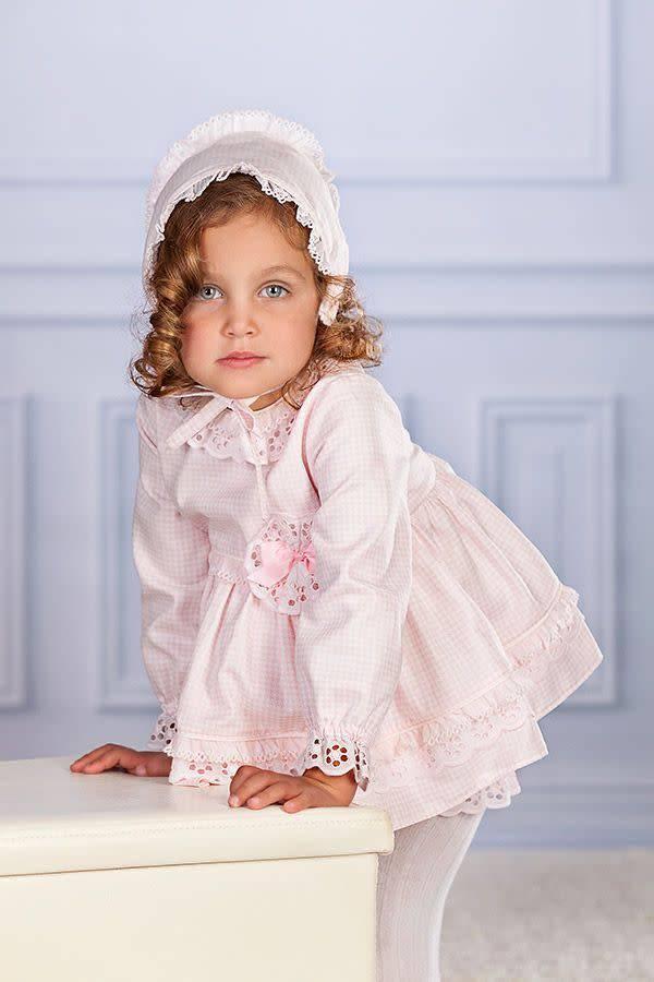 Petit Bebe Petit Bebe Pink Check Dress