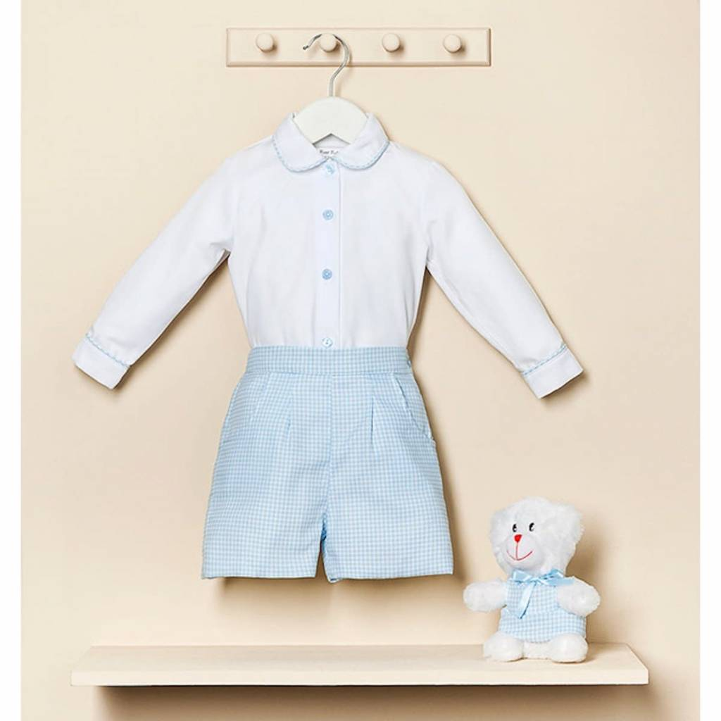 Petit Bebe Petit Bebe Boys Checked Short 2 Piece