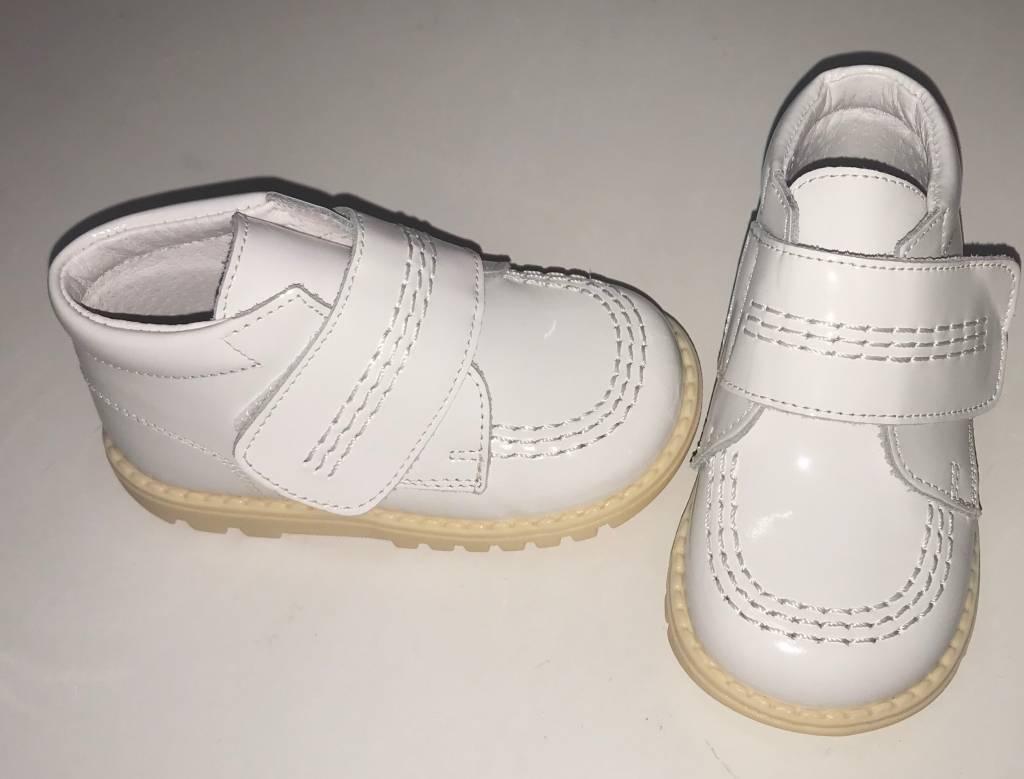 Leon Boys White Patent Boots 25530
