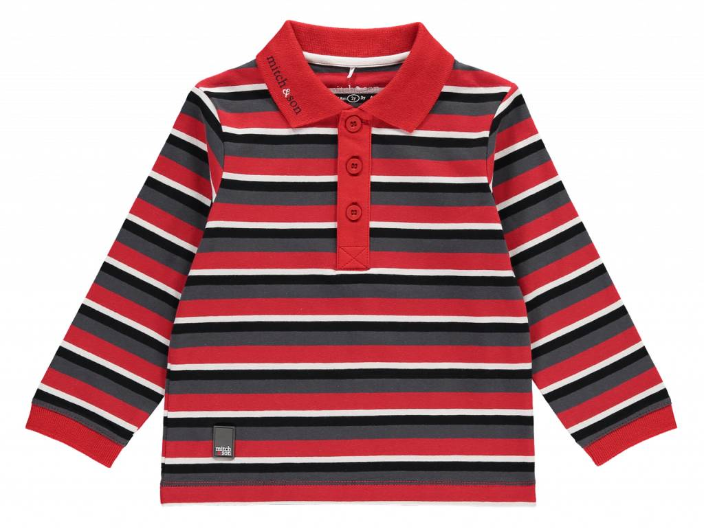 Mitch and Son Mitch&Son Perry Striped Polo Top