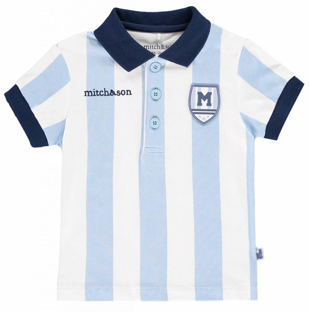 Mitch and Son Mitch And Son Paton MS1111 Vertical Stripe Polo Top
