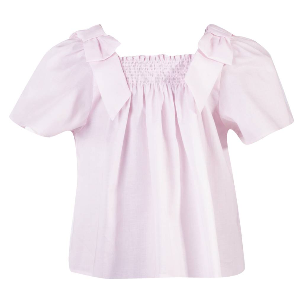 Patachou Patachou Pink Top with Bow Shoulder Detail