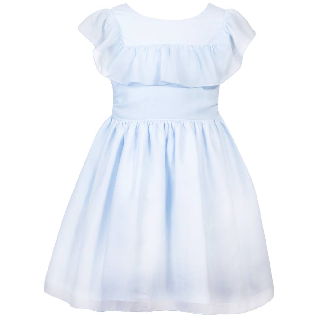 Patachou Patachou PAP/VET Pale Blue Ruffle Dress
