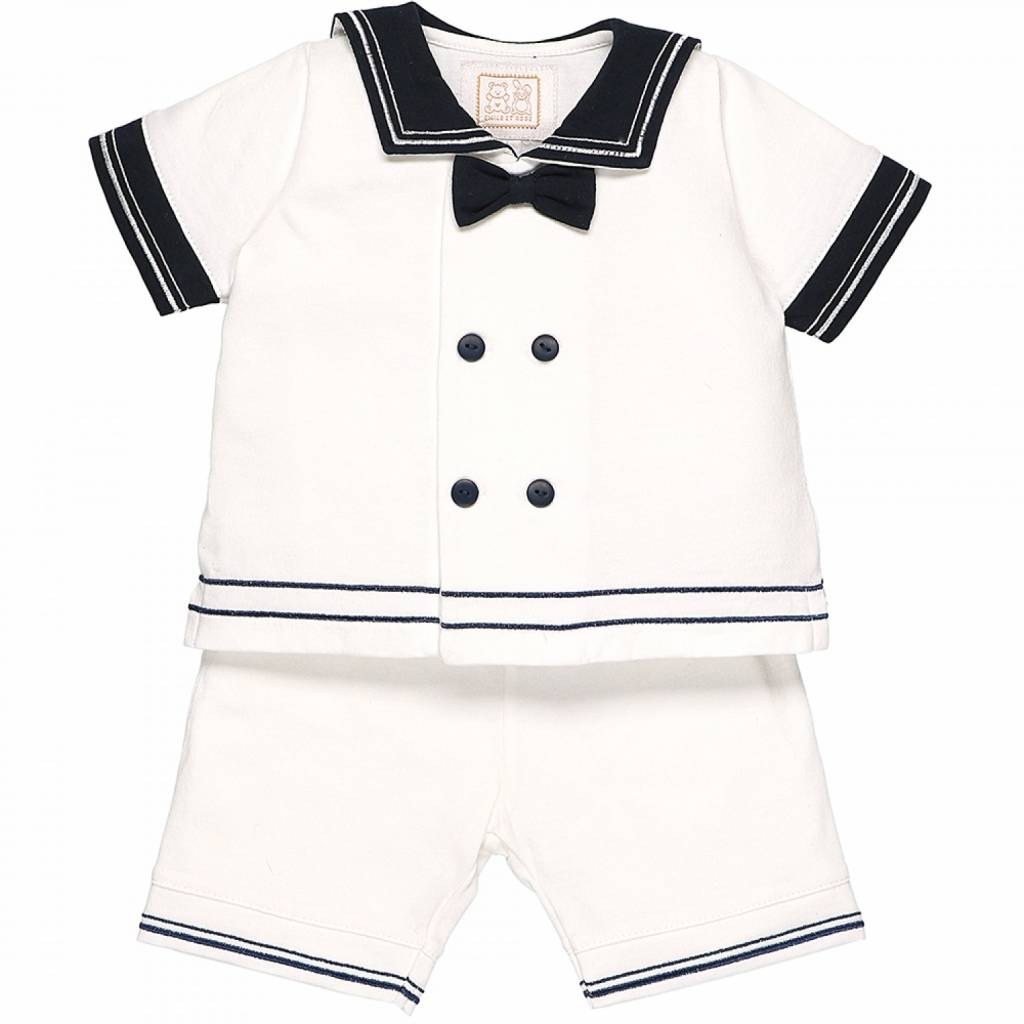 Emile et Rose Emily Et Rose Pacific Sailor Top And Shorts Navy