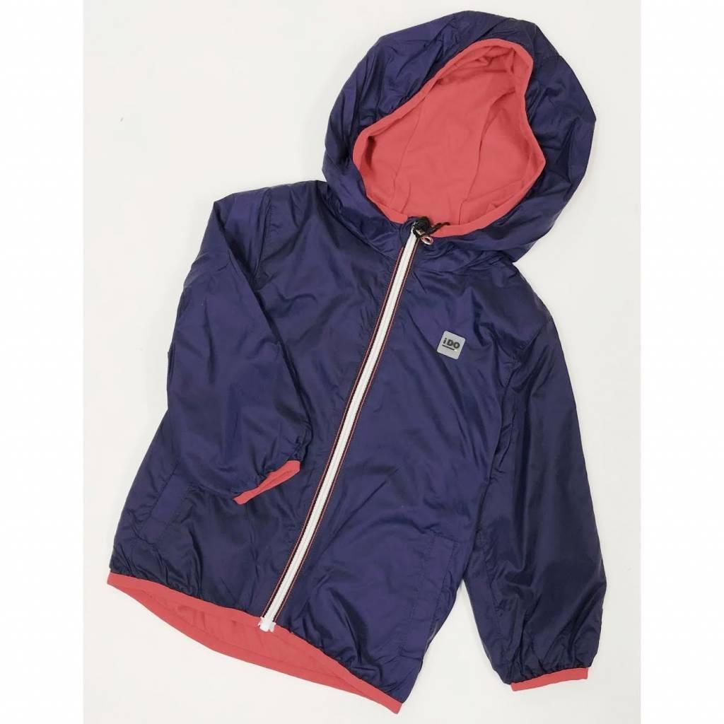 Ido Ido Showerproof light thermal navy jacket with red trim