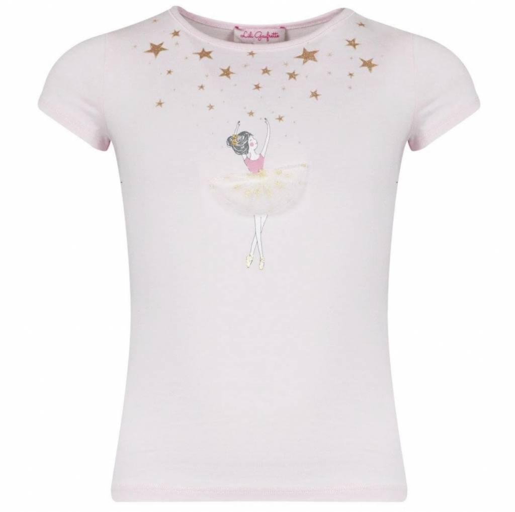 Lili Gaufrette Lili Gaufrette Grimpen ballerina pink T-shirt