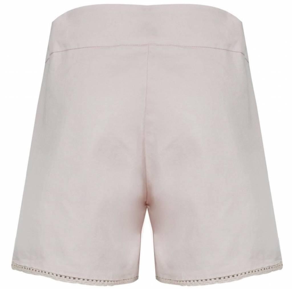 Lili Gaufrette Lili Guafrette Goffy Pale Pink Cotton Bow Short