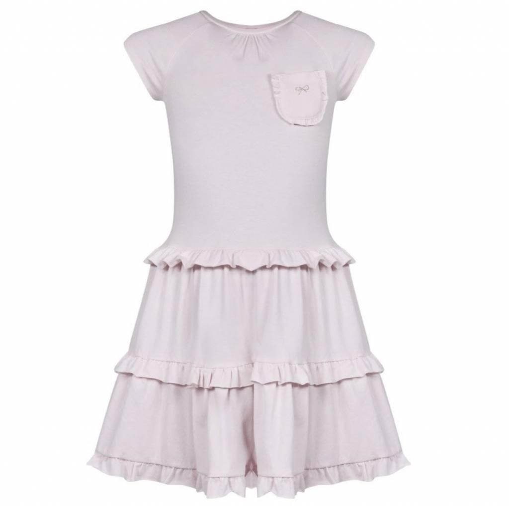 Lili Gaufrette Lili Gaufrette Gerland Girls Pink Jersey Ruffle Dress