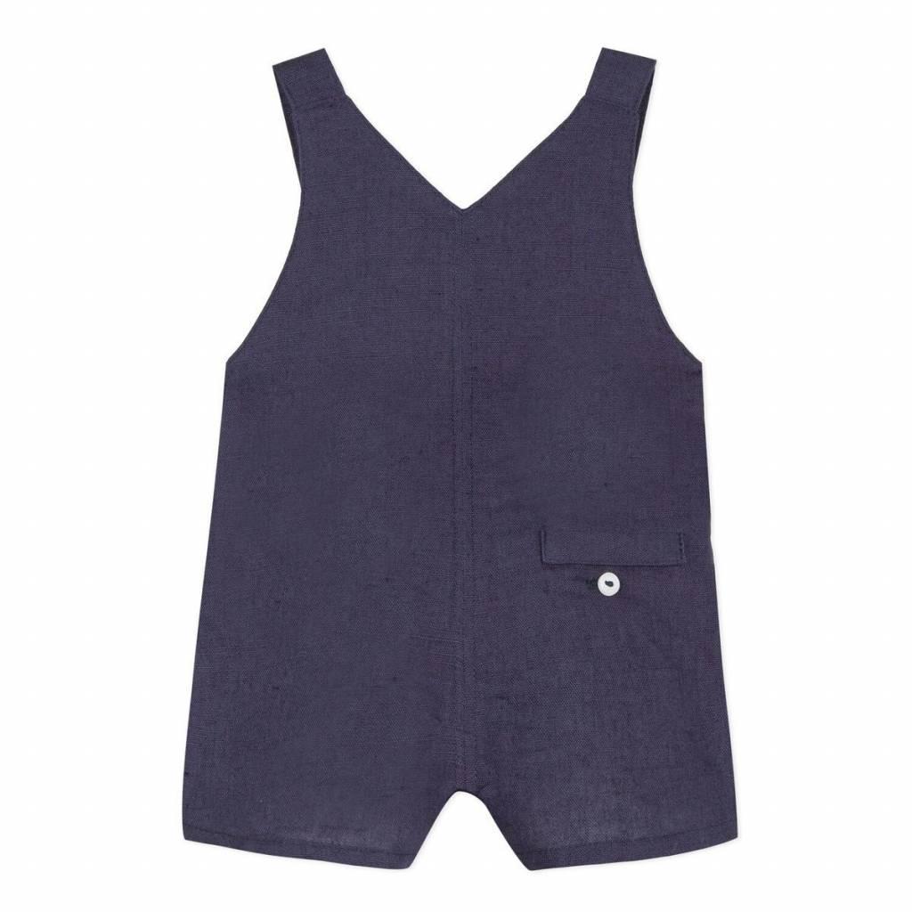 Absorba Absorba Boys Navy Linen Dungaree Shorts