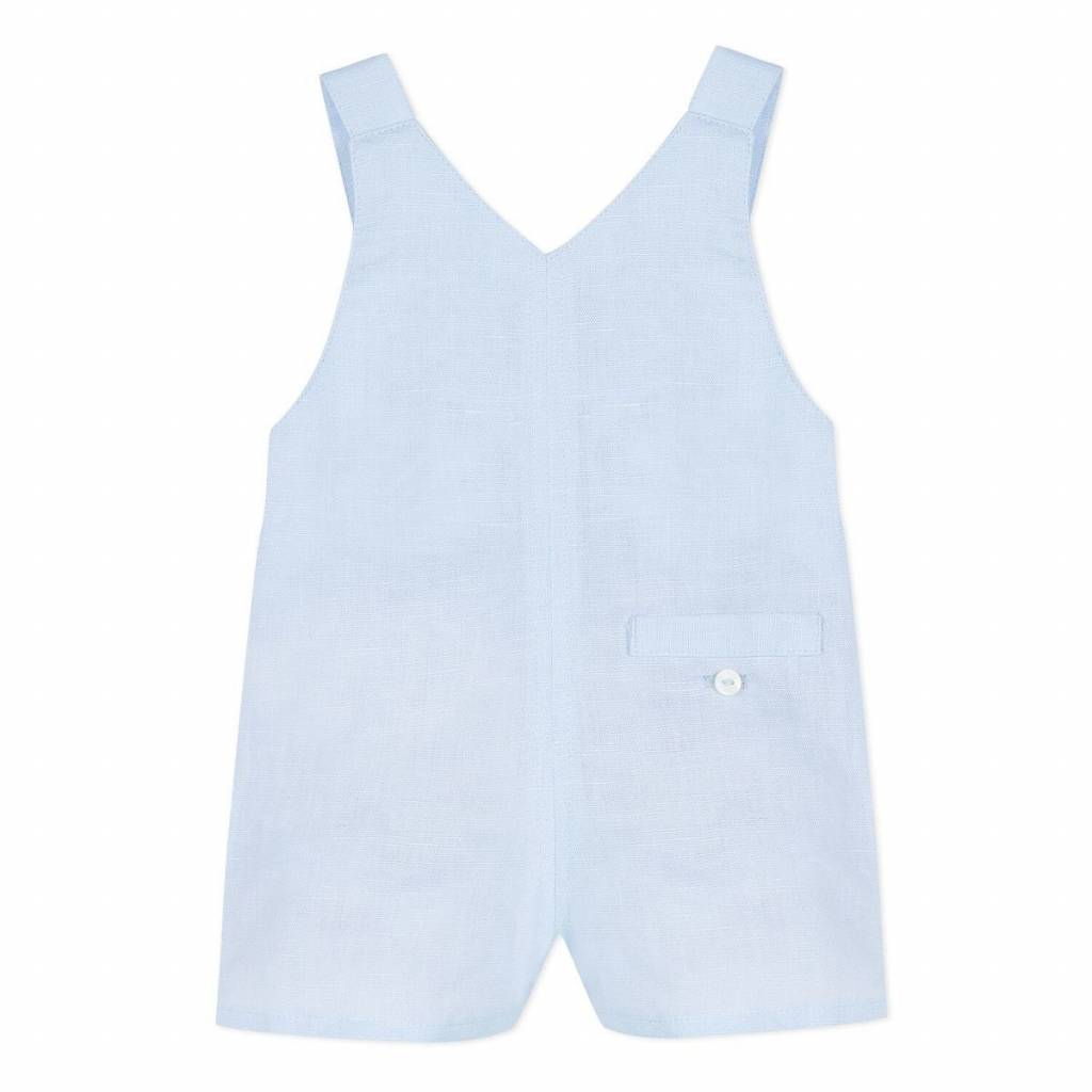 Absorba Absorba Boys Pale Blue Linen Dungaree Shorts