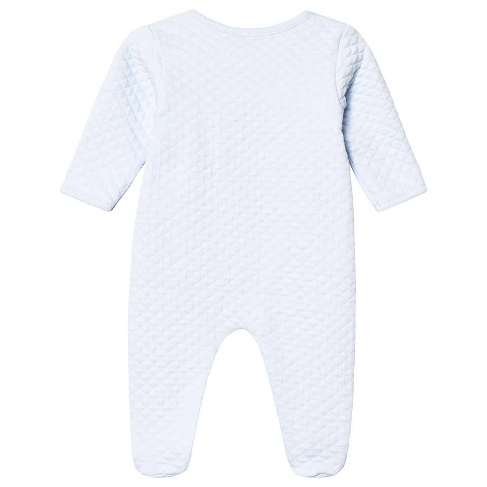 Absorba Absorba Pale Blue Quilted Babygrow