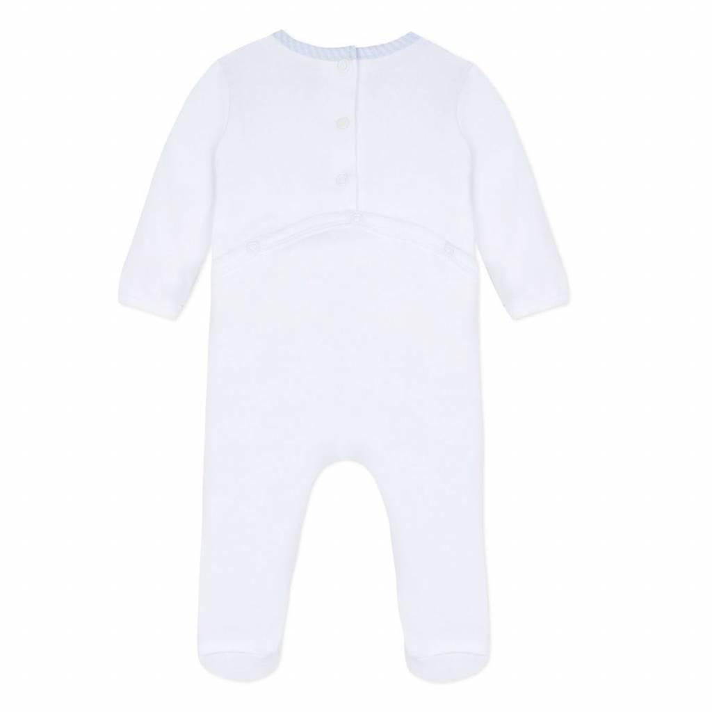 Absorba Absorba Babygrow with stripe collar detail