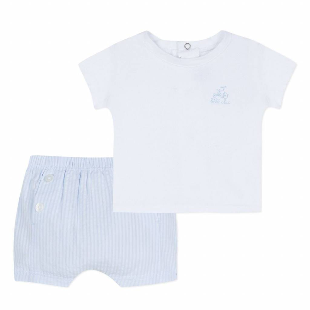 Absorba Absorba Tee & Shorts Outfit With Bike Motif