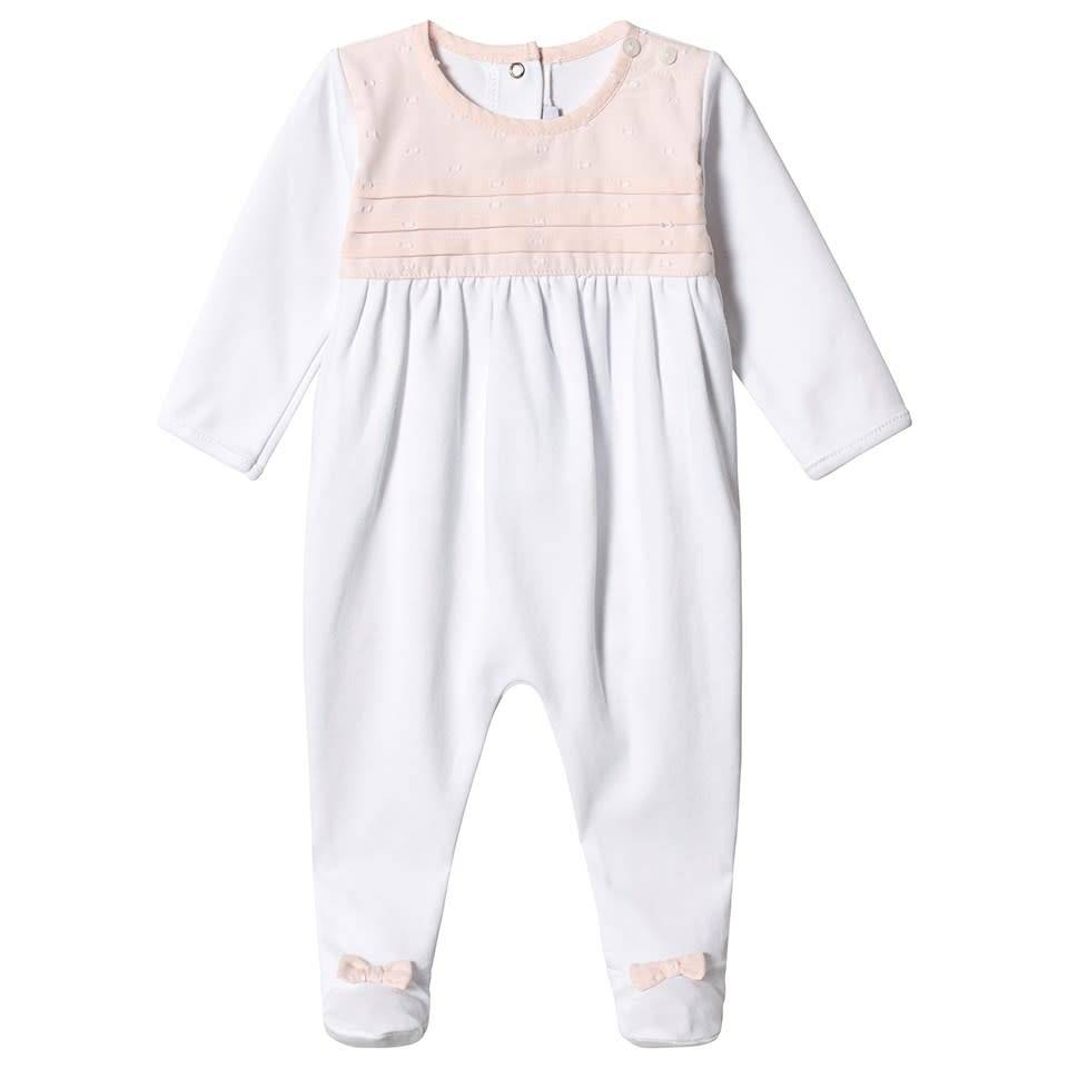 Absorba Absorba White baby grow with pink collar detail