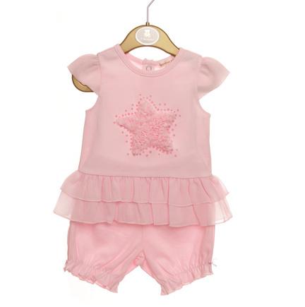 Mintini Mintini Pink Star Dress and Bloomer