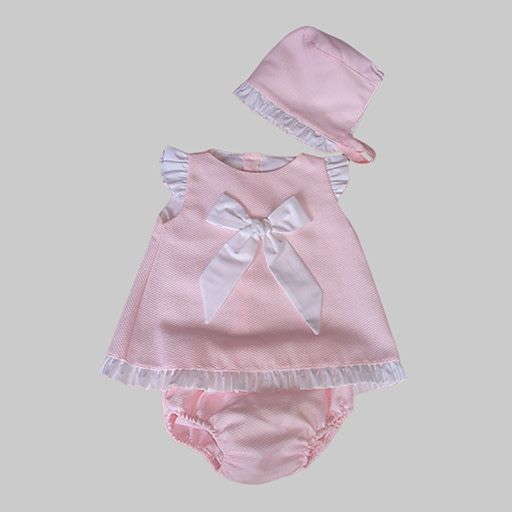 Babylis Babylis Girls Pink Dress with Bow Detail