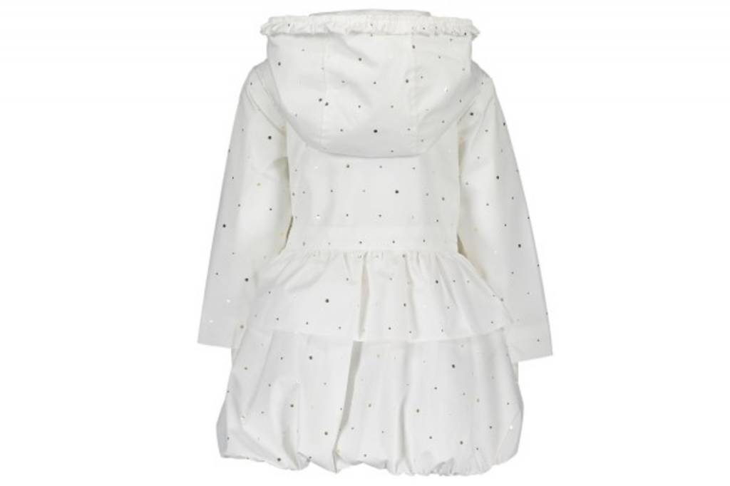 Lechic Lechic Baby white coat with gold dots and bows 7211