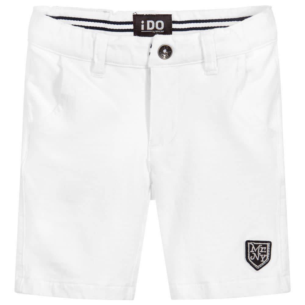 iDo Boys White Jersey Shorts