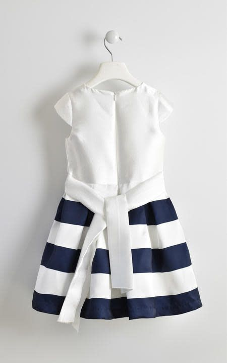 Ido IDo girls dress with cream top and stripe skirt
