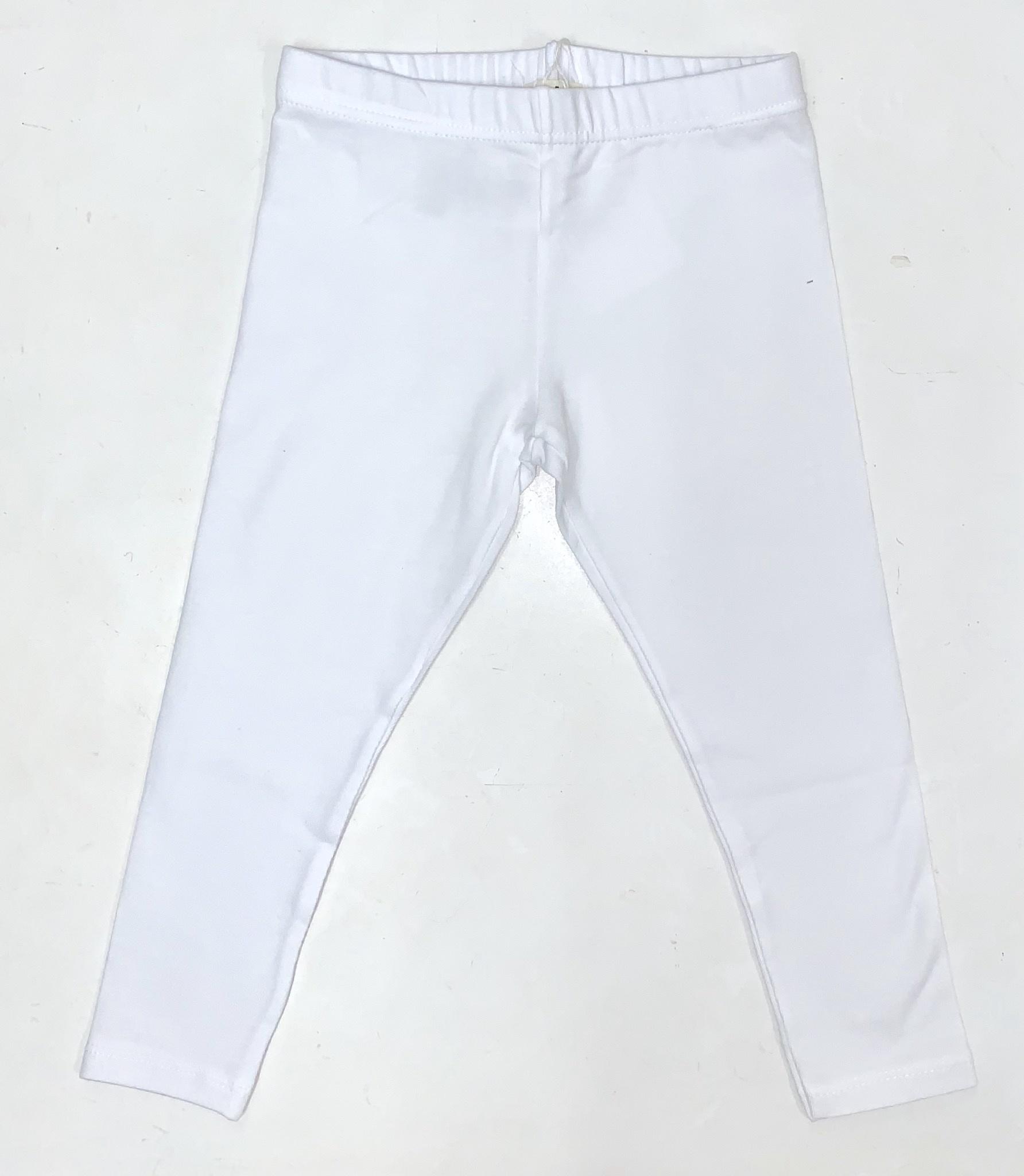 EMC EMC White cotton girls leggings