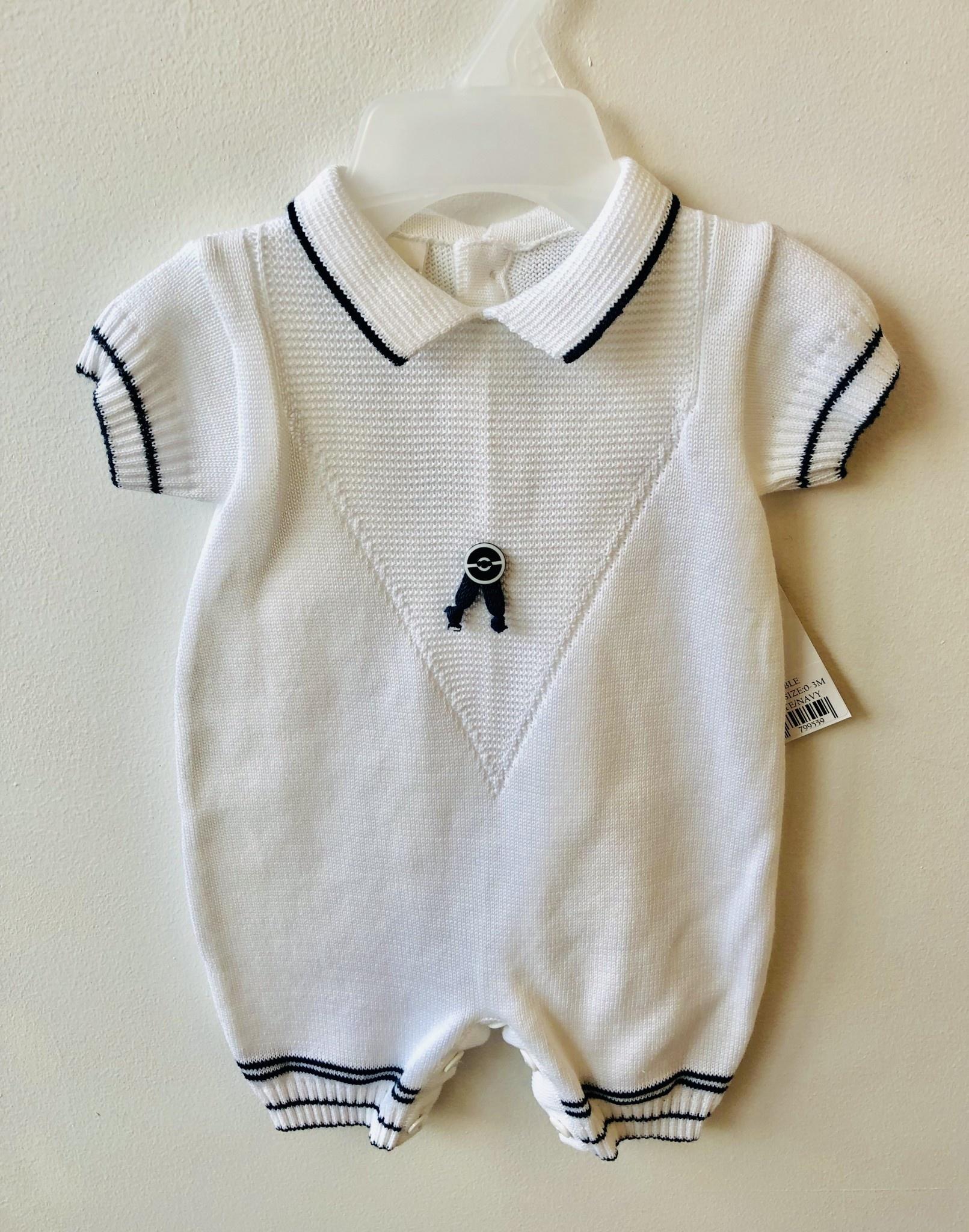 c2e5b125b Pex Marcus Bubble Navy   White Romper - Bubbles Childrenswear