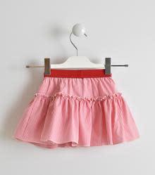 Ido IDO Red & White Stripe Top & Skirt Set