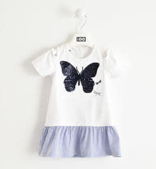 Ido Ido Navy & White Dress with Butterfly