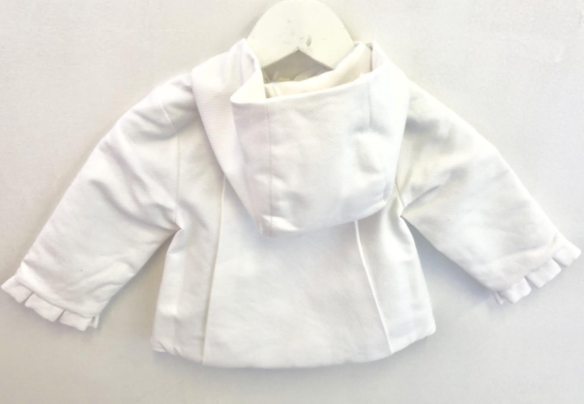 Purete Purete Girls White Jacket with Pocket Detail