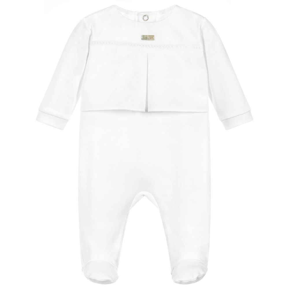 Purete Purete Plain White Baby Grow